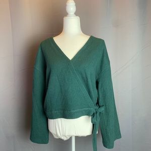 Madewell Green Shirt Large Texture and Thread